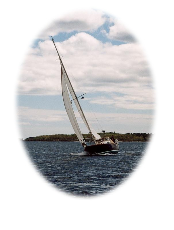 Glissando on a great sailing day in May 2002.  Photo by Nathan Sanborn, Dasein, #668